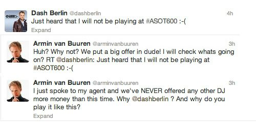 Dash Berlin + Armin Dupe #Trancefamily With PR Stunt